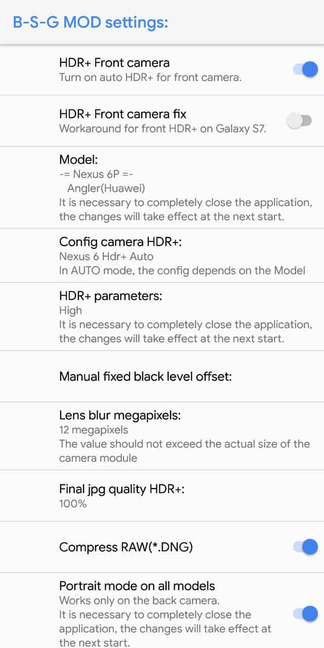 Pixel 2 Camera OnePlus 5T Settings 1 • Download Pixel 2 Camera for OnePlus 5T [with AR Stickers]