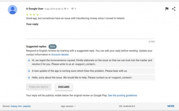 Google's New Auto Reply Feature for Developers