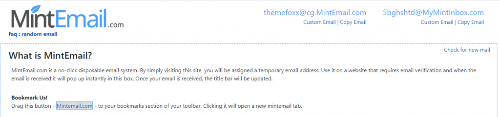 Fake-Email-Generators-Temporary-Email-MintEmail